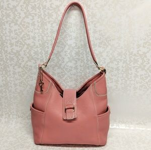 Fossil 1954 Pink Leather Shoulder Bag